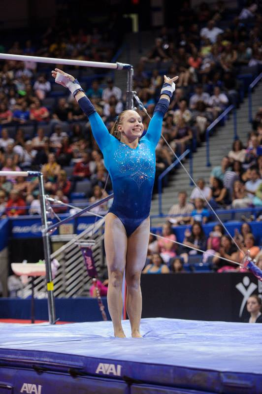 Brenna Dowell. (Photo from USAG by John Cheng or Geoff Bolte)