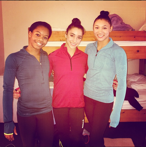 3/5 fierce five roomies- Aly Raisman via Instagram